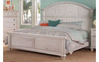 American Woodcrafters Sedona Panel Bed with Headboard, Footboard, and Rails