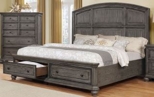 Crown Mark Lavonia Bed with Headboard, Footboard and Rails