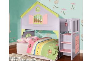 Donco Lavender, Pink and Lime Twin Doll House Stair Step Loft