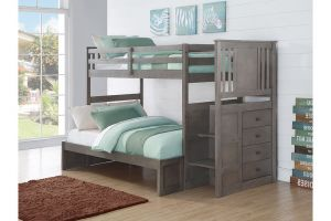 Donco Slate Grey Princeton Stairway Bunkbed