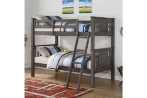 Donco Slate Grey Twin over Twin Princeton Bunkbed