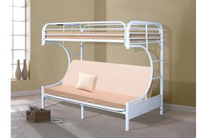 Donco Twin over Full Futon C-Shape Metal Bunkbed