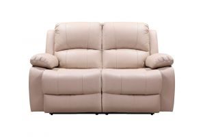Leather Italia Winnfield Taupe Leather Power Loveseat