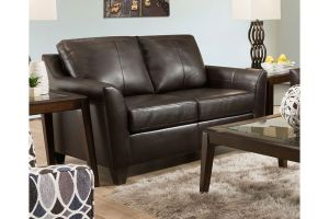 Simmons 2029 Soft Touch Bark Leather Loveseat