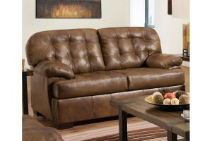 Simmons 2037 Soft Touch Chaps Leather Loveseat