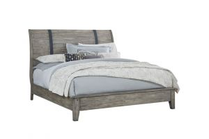 Standard Nelson Grey Bed with Headboard, Footboard, and Rails